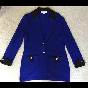 St. John Collection by Marie Gray blu/black blazer